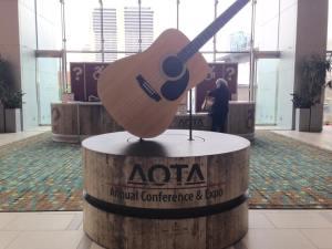 AOTA logo guitar