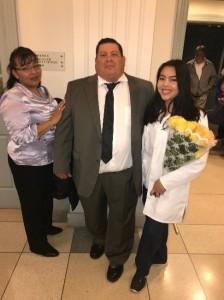 Ana Herrera-Rivera and family Undergraduate Scholarship Winner