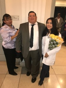Ana Herrera-Rivera and family Undergraduate Scholarship Winner